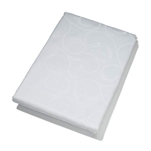 KOOK tafelkleed Damast wit 160 x 240 cm