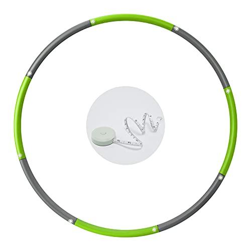 TOPLUS フラフープ 組み立て式 サイズ調整可 有酸素運動 ダイエット ウエスト くびれ 引き締め 8本組 体操用品 フープ 脂肪燃焼