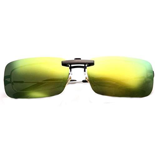 ERIOG Nachtsichtbrille Polarisierte Unisex-Sonnenbrille mit Clip-On-Funktion für Nachtsichtgläser Anti-UVA Anti-UVB-Radfahren