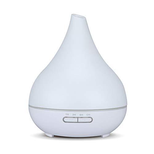 DEPNEE Difusor de aroma de aceite esencial Humidificador ultrasónico blanco para yoga en el hogar