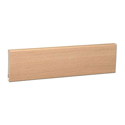 KGM Sockelleiste Eiche weiß geölt | Modern Holzleisten 80mm für Parkett und Laminat Eiche ✓Echtholz Fußleiste ✓hochwertige Furnier Oberfläche | Parkettleiste Bodenleiste 16x80x2500mm