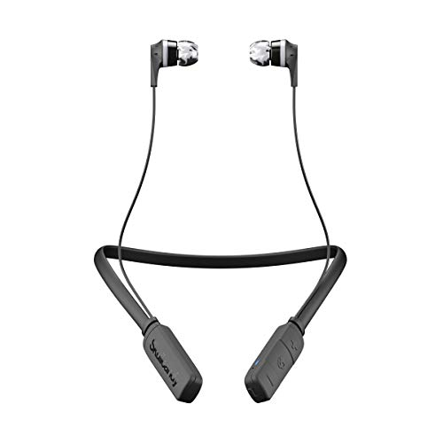 Skullcandy Ink'd Bluetooth Wireless Earbuds with Microphone, Noise Isolating Supreme Sound, 8-Hour Rechargeable Battery, Lightweight with Flexible Collar, Black