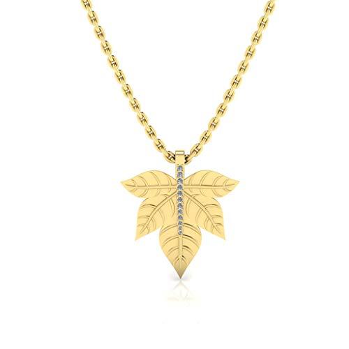 Jbr - Collar de plata de ley con diseño de hojas de arce para mujeres, adolescentes, niñas, regalo romántico para ella