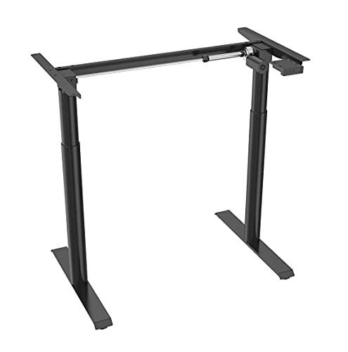 SpassWay TGS01 - Escritorio de altura regulable eléctrico, se adapta a todo tipo de mesas, con control de memoria y arranque suave (sin placa)