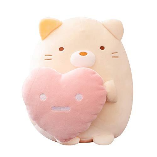 Cartoon Corner Creature Hug Heart Leuk Kind Pluchen speelgoed Soft Cute Dumpling Cat Doll Penguin Doll Pillow (Color : Beer)