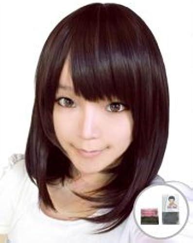[2 types of wig with net] Dark braun Medium Cosplay Wigs [heat-resistant high quality] (japan import)