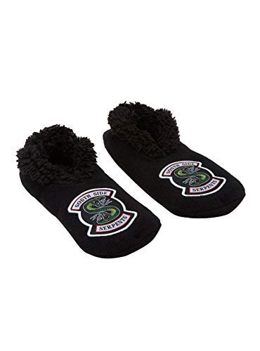Tvmoviegifts Riverdale Southside Serpents Cozy Slippers,Black, 10