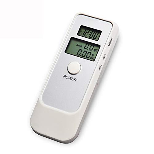 YUXINCAI Blowing Alkohol-Tester Dual Screen LCD-Zeit-Temperatur-Professionelle Digitale Trunkenheit Am Steuer Instrument,Weiß,100×37×17mm