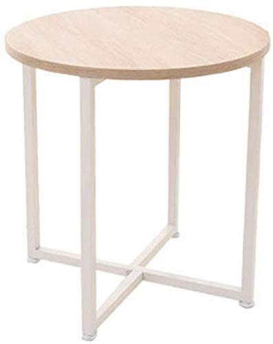 Nest Of Tables Mesa de centro blanca Mesas auxiliares Lapdesks Sofá redondo de metal con combinación lateral Café para sala de estar, dormitorio, cocina para todas las estaciones de trabajo, 48 * 48