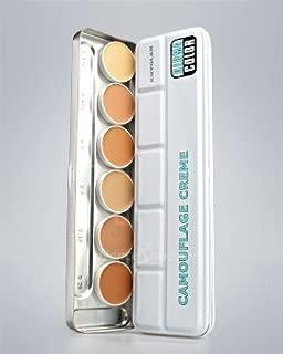 Kryolan Dermacolor Camouflage Cream 6 Colors Palettes 71007 H