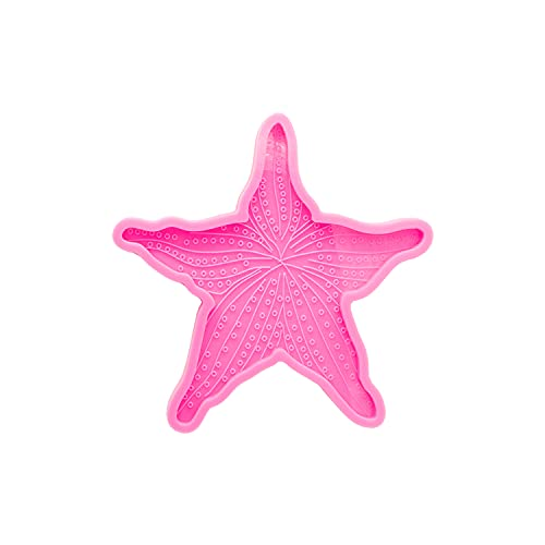 Angel Wings 5.7 Inch Starfish Shape Silicone Molds Epoxy Resin Coaster Mold, Tray Resin Casting Mold for DIY Agate Coaster, Cup Mats, Bowl Mat, Home Decoration