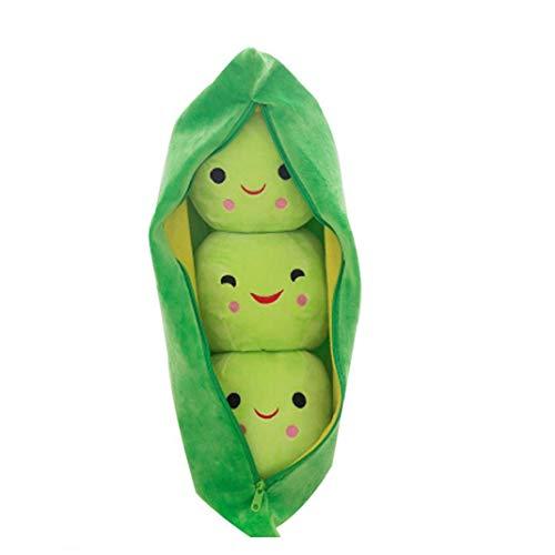 NaiCasy Pea del Giocattolo della Peluche di Simulazione di Verdure Bambola Peluche Cuscino Imbottito Baccello Morbidi Cuscini per Bambini Giocattoli con Piselli 25 Centimetri