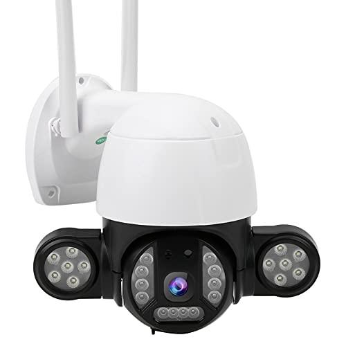 Cámara WIFI PTZ IP66 Cámara de vigilancia de visión nocturna a todo color a prueba de agua Intercomunicador bidireccional Detección de movimiento Cámara de seguridad para el hogar(EU)