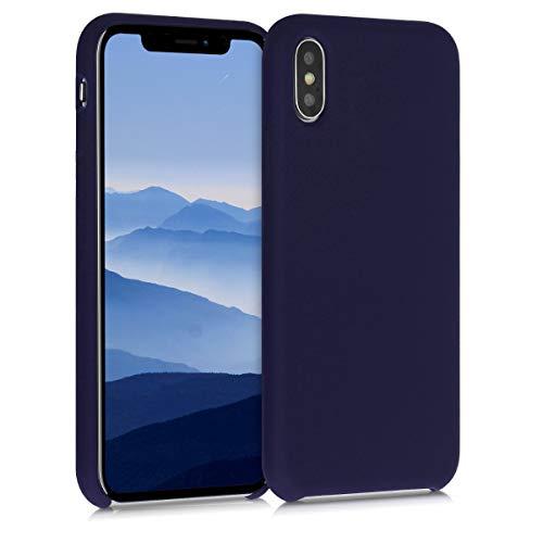kwmobile Funda Compatible con Apple iPhone X - Funda Carcasa de TPU para móvil - Cover Trasero en Azul Profundo