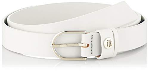 Tommy Hilfiger Damen Classic Belt 2.5 Gürtel, Weiß (White Yaf), 80 cm