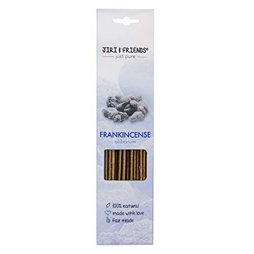 Varitas de incienso Frankincense (olibano) para ahumar Jiri and Friends 100% natural, 15 unidades de...