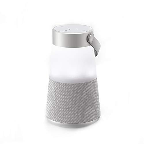 HIOD Bocina Bluetooth - 360 Sonido Envolvente Portátil Altavoz Inalámbrico 18h Tiempo de Juego Alcance de 33 pies con Función de luz Nocturna,Gray