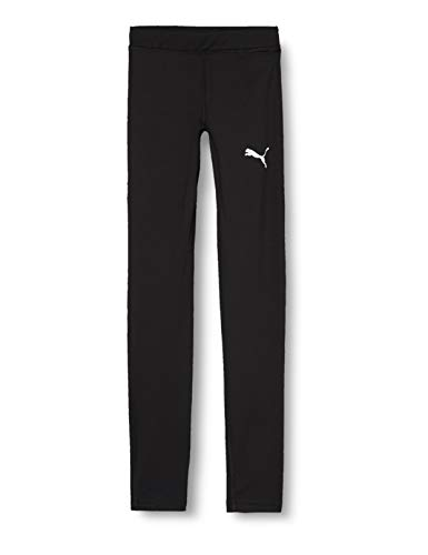 PUMA Kinder LIGA Baselayer Long Tight Jr Hose, Schwarz (Puma Black), 152