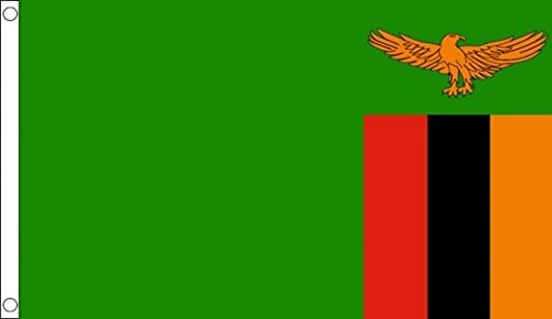 5ft x 3ft (150 x 90 cm) Zambia Zambian 100% Polyester Material Flag Banner Ideal For Pub Club School Festival Business Party Decoration by UKFlagShop