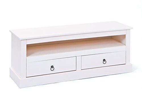 Inter Link Move 20901530 Mesa de TV rústica estilo marítimo color blanco, para equipo de audio o vídeo, nueva