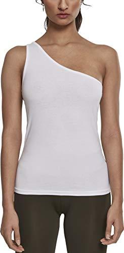 Urban Classics Ladies Asymmetric Top Débardeur de Sport, Blanc (White 00220), Large Femme