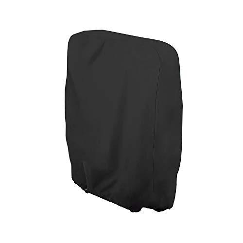 Uranbee Schutzhülle für Klappstuhl Liegestuhl Sonnenliege Deckchair Abdeckung Wasserdicht Anti-UV Gartenmöbel Schutz vor Wettereinflüssen und Beschädigungen 210D Oxford (Schwarz)