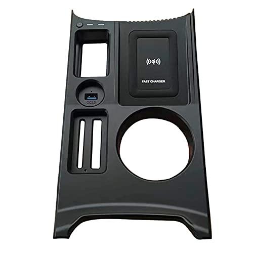 Runtodo Cargador de TeléFono de Carga InaláMbrica Panel de Placa de Carga RáPida Soporte de TeléFono Piezas de AutomóVil Carga RáPida para A3 2021 Models
