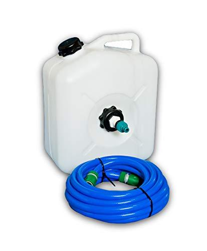 Caravan Mains Water Container & Adapter & 7.5m food grade hose