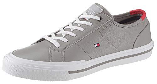Tommy Hilfiger Sneaker Schnürer Logo-Detail Silber Größe 42