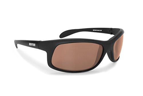 Bertoni Polarisierten Photochrome Sonnenbrille für Skifahren - Laufen - Driving - Fish - P545FT Selbsttönend (Photochrome Polarisierte Braun)