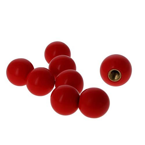 Othmro Handling Knob Red Handle Diameter: 25mm Bakelite Ball M6 Thread 8pcs