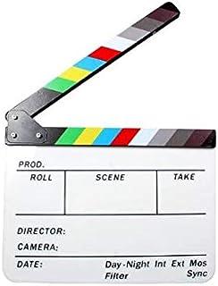 Beauenty Professional Studio Camera Photography Video Acrylic Clapboard Dry Erase Director Film Movie Clapper Board Slate ...