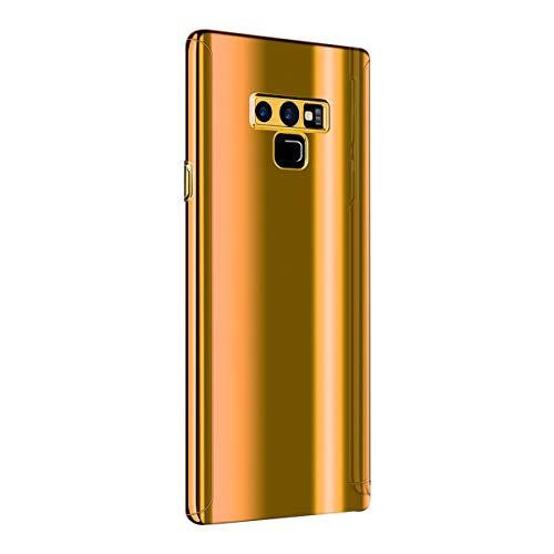 Riyeri Hülle Compatible with Samsung Galaxy Note 9 Hülle 3 in 1 Ultra Dünner Glatt Hard PC Oberfläche 360 Komplett Anti-Kratzer Bumper Cover für Samsung Galaxy Note 9 (Note 9, Gold)