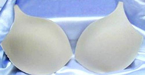 Sew in Bra Cups Soft Seamless Foam for Bathing Suit Sundress Sz 36 Nude 1 Pair - Decor Ribbons & Lace Trims