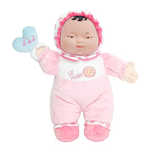 JC Toys Lil? Hugs Asian Pink Soft Body - Your First Baby Doll - Designed by Berenguer - Ages 0+