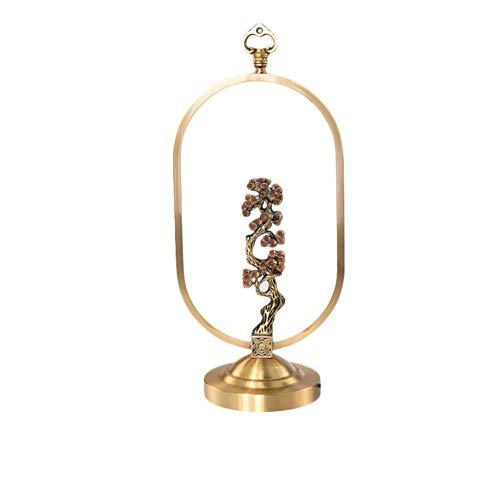 MFWallMirror Tafellamp, bronskleurig, tafellamp, slaapkamer, bedlampje, klassieke zen-studie, hoogwaardige decoratie, verlichting