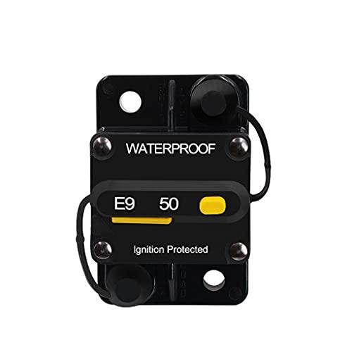 RRunzfon Interruptor de Circuito de Interruptor 50 un Circuito con restablecimiento Manual para el Sistema de Auto Motor Actual de vehículos Protección contra sobrecarga CS-642A1