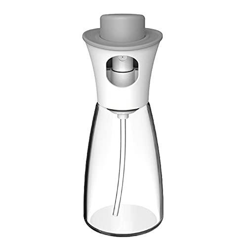 Botella de rociador de aceite de oliva de vidrio de cocina de 180 ml, bomba de aceite transparente, prensa de goteo, barbacoa, tanque de rociado atomizado, herramienta de cocina