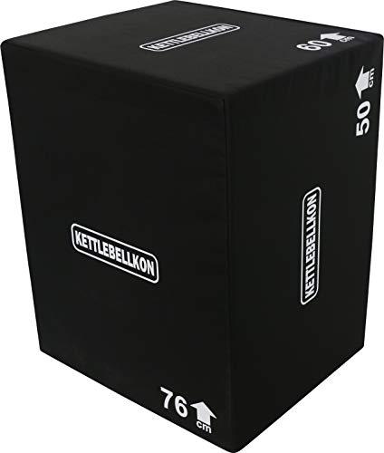 KETTLEBELLKON(ケトルベル魂)ソフトプライオメトリックスボックス(ジャンプボックス)3 in 1 (40cmx50cmx60cm)