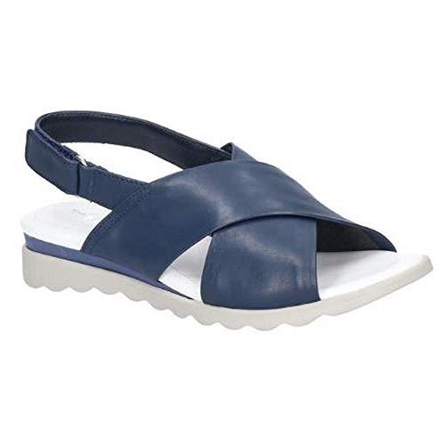 The Flexx - Sandalias de Piel Pina Tivoli con Cierre Adhesivo para Mujer señora (40 EU) (Azul Marino)