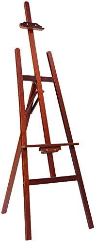 LLDKA grote Pine houten atelierschildersezel, verstelbare bodem schildersezel stand, stabiel statief schildersezel A-Frame Studio Easel