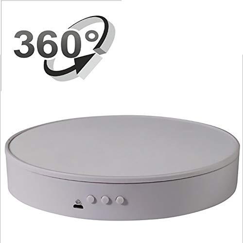 Oceanindw Base Girevole Elettrico di 20cm, Piattaforma Professionale Girevole di 360 Gradi, Utilizzabile Come Base per Fare Foto, Video e Torte