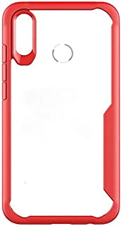 Luxury Shock Absorption Soft Shell Back Cover For Huawei Honor 8X Max Case Anti-Scratch Clear Combo Cover Cases For Huawei Honor 8X Max red