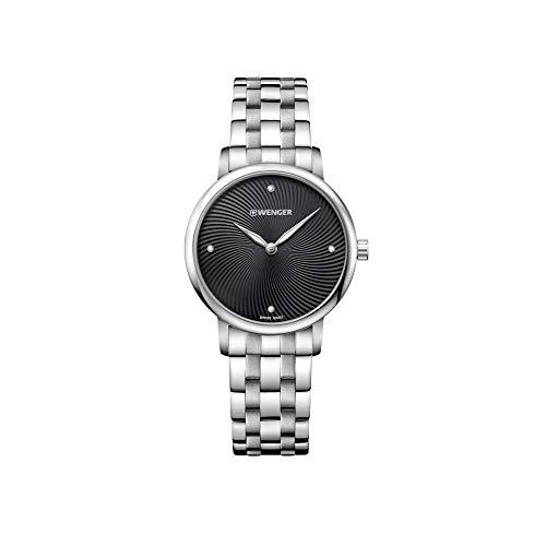 Wenger Mujer Urban Donnissima - Reloj de Acero Inoxidable de Cuarzo analógico de fabricación Suiza 01.1721.105