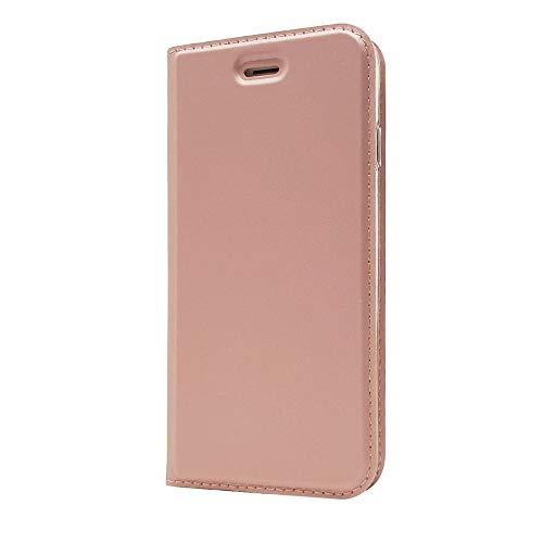 Sangrl Funda para Xiaomi Redmi Note 5A Prime, Libro Cuero de la PU Leather Case Soporte Plegable Premium Flip Case para Xiaomi Redmi Note 5A Prime - Rose Gold