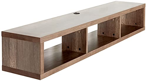 """Martin Furniture Floating Tv Console, 60"""",Light Brown"""