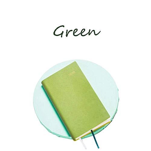 MLOZS Plan mensual, libro de plan semanal A6, se puede llevar alrededor, julio de 2020 a junio de 2021, planificadores bastante simples (color: verde)