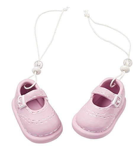 Deko-Figur Baby Schuhe/Schühchen Girl rosa pink Torten-Figur Kuchen-Aufsatz Tisch-Deko Dekoration Baby-Party Baby-Shower Geburt Taufe Mädchen Geschenk-Idee Geldgeschenk