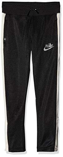 Nike Young Athletes, Pantaloni Sportivi 3/4 Ragazza, Nero (Black/Pale Ivory/Reflective Silver 010), L