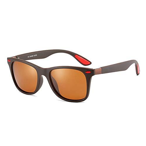 LJJLJJ Retro Gafas De Sol Hombre Polarizadas Uv400 ProteccióN, para ProteccióN contra Luz Azul, Anti Fatiga por Deslumbramiento,6